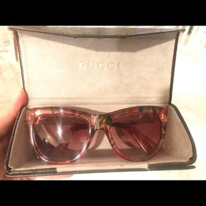 Gucci clear floral sunglasses